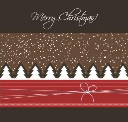 free vector Cartoon christmas background 04 vector