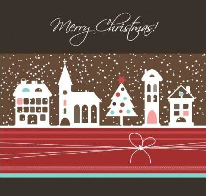 free vector Cartoon christmas background 05 vector