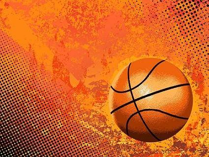 Cool basketball and background elements vector