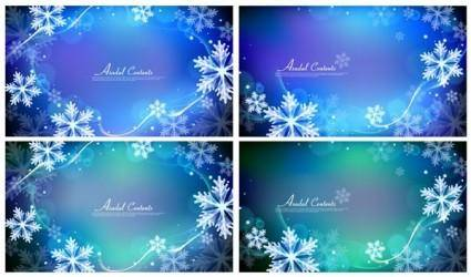 free vector Vector background dream snow