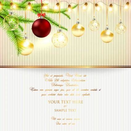 free vector Christmas lights bright background 02 vector