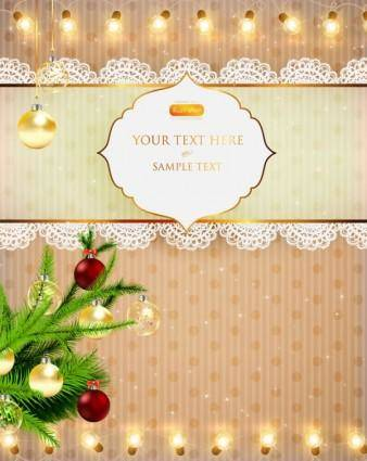 free vector Christmas lights bright background 04 vector