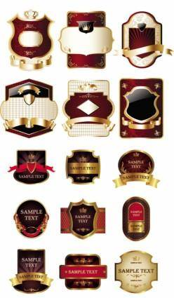 free vector Stickers and labels wine vector 3