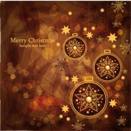 free vector Christmas gorgeous brown background 02 vector