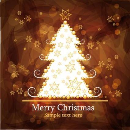 Christmas gorgeous brown background 03 vector