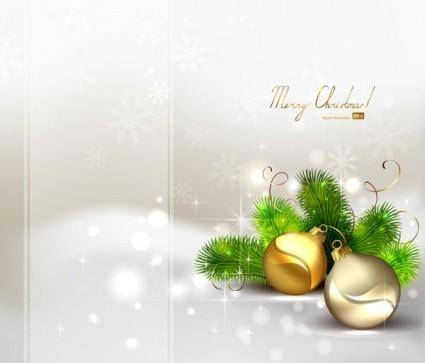 free vector Beautiful christmas ball background 04 vector