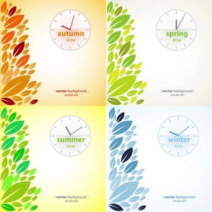 Four seasons presentation vector
