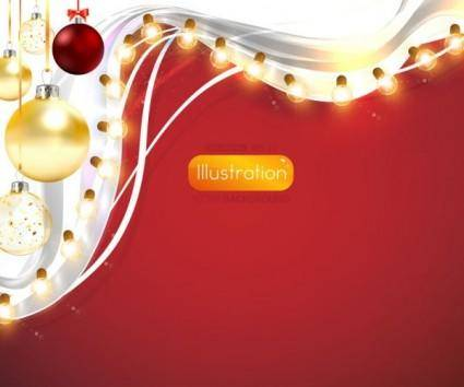 free vector Christmas lights bright background 03 vector