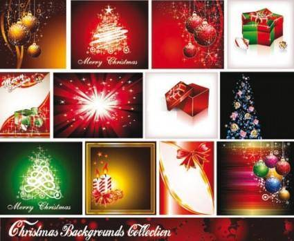 free vector Starstudded christmas background 01 vector
