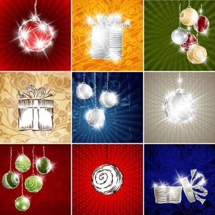 free vector Starstudded christmas background 02 vector