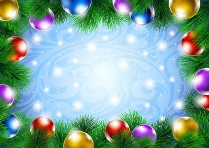 Beautiful christmas decoration background 04 vector
