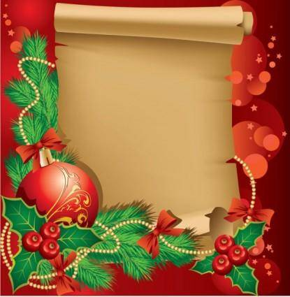 free vector Beautiful christmas border background 02 vector