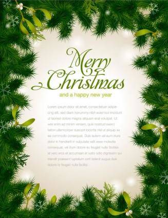 Beautiful christmas background borders 01 vector