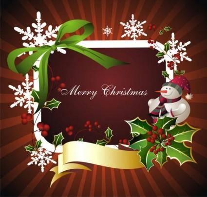 Beautiful christmas border background 03 vector