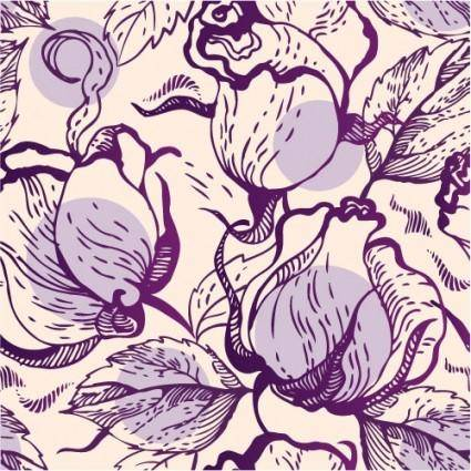 Rose pattern background 04 vector