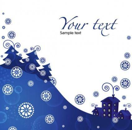 Christmas blue background 01 vector
