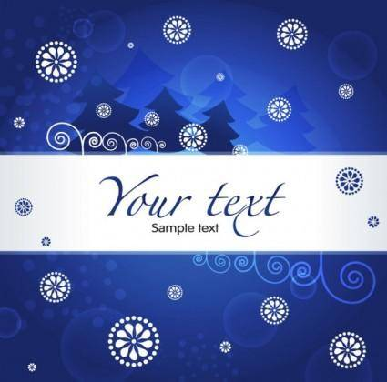Christmas blue background 03 vector