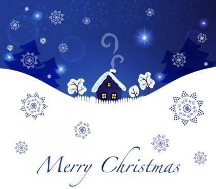 Christmas blue background 04 vector