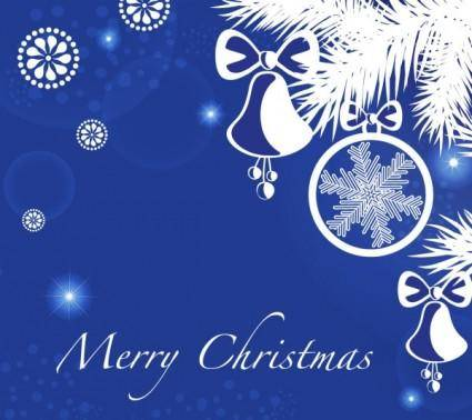 free vector Christmas blue background 05 vector