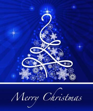 free vector Christmas blue background 02 vector