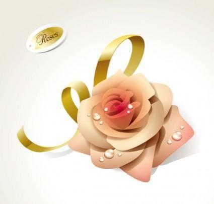 free vector Beautiful roses 01 vector