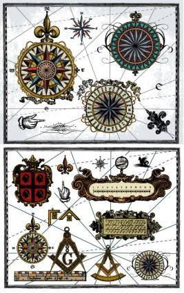 Nautical theme vector