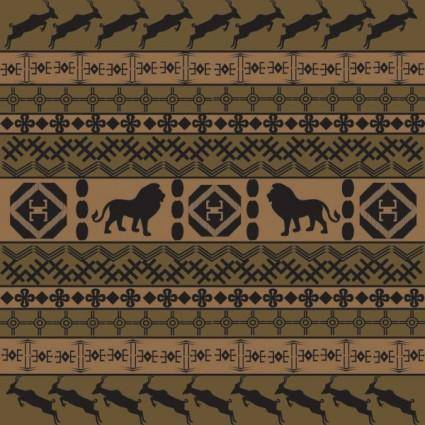 African traditional pattern background 04 vector