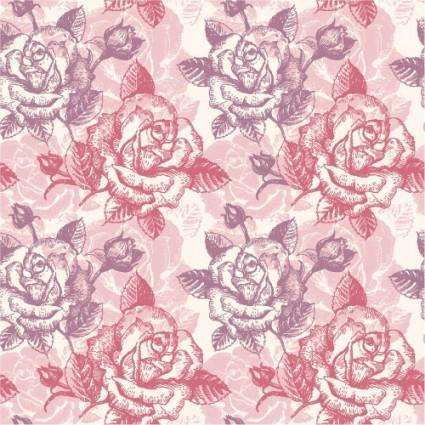 free vector Rose pattern background 03 vector