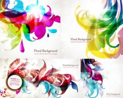 Symphony of the trend vector background