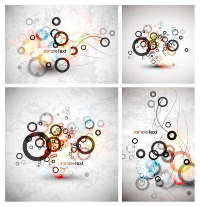 Symphony circle background vector