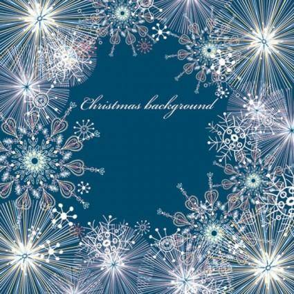 free vector Beautiful snowflake pattern background 05 vector