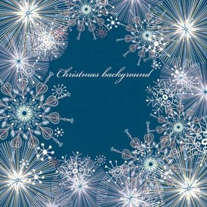 Beautiful snowflake pattern background 05 vector
