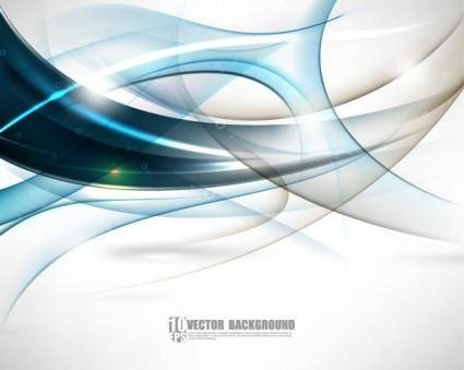 free vector Dynamic flow line gorgeous background 02 vector