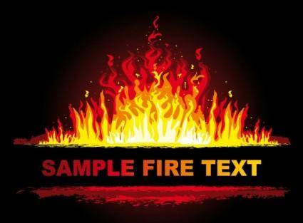 free vector Beautiful flame 3 vector