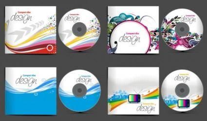 free vector 4 cd packaging vector