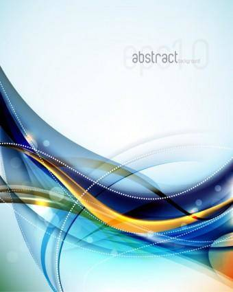 free vector Dynamic flow line gorgeous background 04 vector