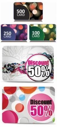 free vector Fine discount card vector