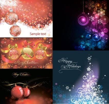 free vector Christmas ball with colorful background vector