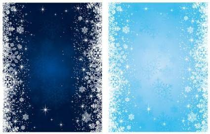 free vector Blue snowflake background vector