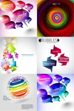 And threedimensional shape of the colorful background vector