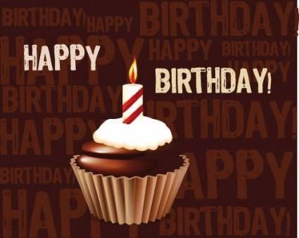 free vector Birthday cake 01 vector