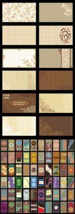 free vector Retro background card template vector