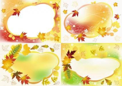 free vector Beautiful autumn photo frame vector
