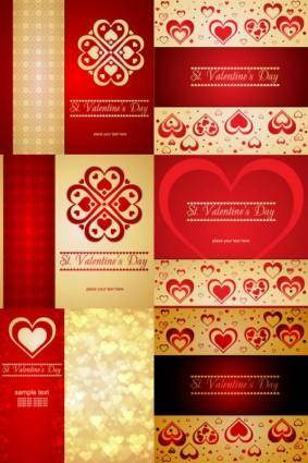 free vector Romantic heartshaped background pattern vector