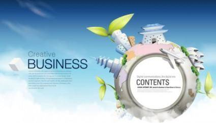 free vector Fashion concept of environmental protection global business background design vector 3