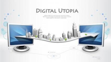 free vector Business network design vector 1 background information
