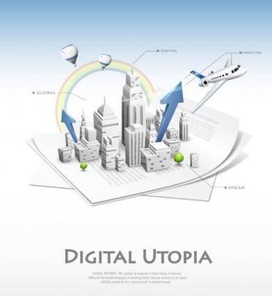 Business network design vector 2 background information