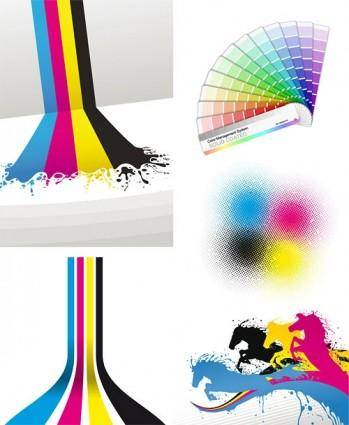 Cmyk color theme vector