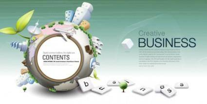 free vector Fashion concept of environmental protection global business background design vector 1