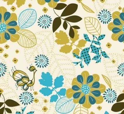 free vector Peacock plant vector background